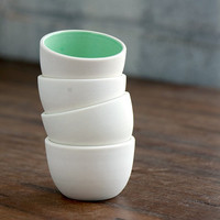Stacking Thimble Cups Set 4 by PigeonToeCeramics on Etsy