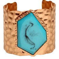 GYPSY WARRIOR - Turquoise Hammered Cuff