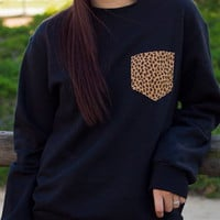 Black Crewneck with ANY Pocket Design