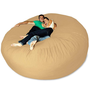 Micro Suede Giant Bean Bag Chair at Brookstone—Buy Now!