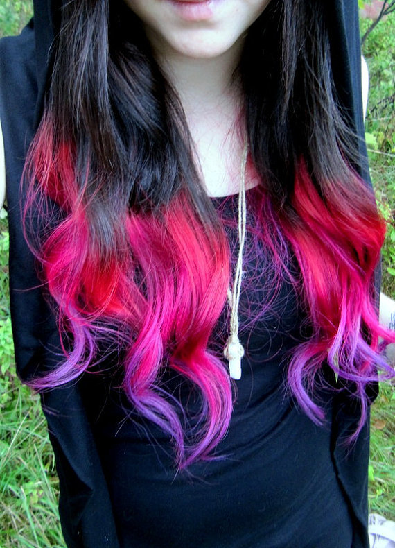 the gallery for gt multi colored ombre hair