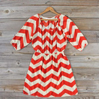 Cross My Heart Chevron Dress, Sweet Women&#x27;s Bohemian Clothing