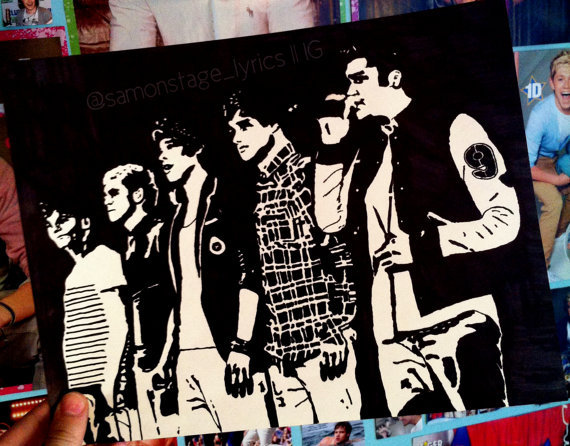 One Direction Pop Art by samonstage on from samonstage on Etsy