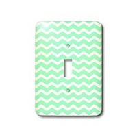 Amazon.com: 3dRose LLC lsp_56647_1 Mint Green and White Chevron Zig Zag Stripes Pattern Retro and Stylish, Single Toggle Switch: Home Improvement