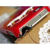 Amazon.com: Cute Mustache 3.5mm Earphone Jack Dustproof Plug Ear Dust Cap for iPhone 5 4 4S: Cell Phones & Accessories