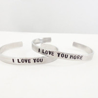 best friend bracelets hand stamped jewelry I by WyomingCreative
