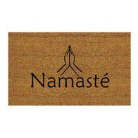 namaste doormat - modern, contemporary outdoor accessories from chiasso