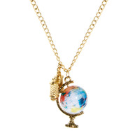 ASOS Spinning Globe & Binoculars Necklace