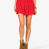 Dotted Arrowhead Tiered Skirt | FOREVER 21 - 2021708748
