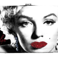 Marilyn Monroe Classic Icon Movie Glitter Ladies Hinge Wallet