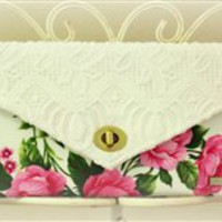 Vintage Bloom Clutch {Handmade by Lw.}