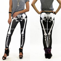 Skeleton Leggings Skull ...
