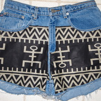 "Blu Blush:   ""A place for custom made plus size high waisted shorts"" — High Waisted Native Shorts"