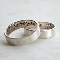 Personalized Mens Sterling Silver Ring Unisex Custom by tempore
