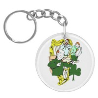 irish three piece band drum harp fiddle.png key chain from Zazzle.com