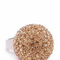 oversized disco ball ring $19.60 in GOLDSLVR MGNTSLVR ORGSLVR PRPSLVR REDSLVR - Rings | GoJane.com