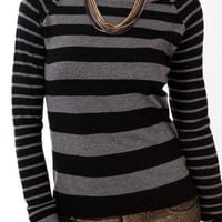 Striped Contrast Raglan Sleeve Sweater | FOREVER 21 - 2031556701
