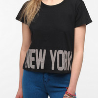 Urban Outfitters - Workshop Bold Text Destination Crop Tee