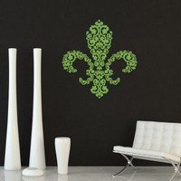 CLING | Bocage Fleur de lis Wall Decal | wall art, vinyl fleur de lis wall decals new orleans, louisiana