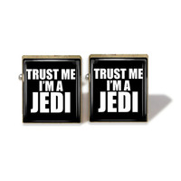 Scrabble Tile Cuff Links Trust Me I'm A Jedi Cuff by IncrediblyHip