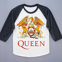 Queen T-Shirt Freddie Mercury Tee Shirt Queen Freddie Mercury Color Shirt Baseball Shirt Long Sleeve Women T-Shirt Unisex T-Shirt Size S,M,L