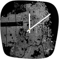 CityFabric Inc San Francisco Black Modern Clock