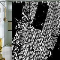 CityFabric Inc NYC Midtown Black Shower Curtain