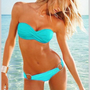 2013 Hot Sexy Cool Women Lady Bandeau Padded Bra Low Rise Bikini Swimwear