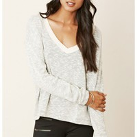 American Vintage V-Neck Long Sleeve Sweater