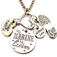 My marine my lover  Necklace Military Necklace