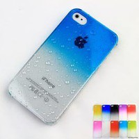 3D Water Drop Dripping Ultra Thin Hard Case Cover For iPhone 4S 4 Azure Blue