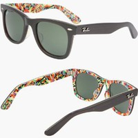 Amazon.com: 2012 RAY BAN WAYFARER RARE PRINTS SHAPES Sunglasses - RB2140 1020 (50mm): Clothing