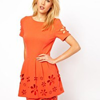 Dress with Daisy Cutwork