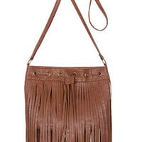 Fringe Bag With Grommets