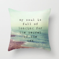 The Secret Of The Sea Throw Pillow by Ally Coxon | Society6