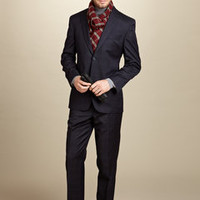 ideeli | JACK VICTOR Light Plaid Two-Button Suit