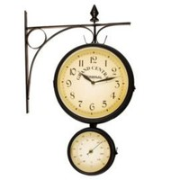 One Kings Lane - Ashton Sutton - Bracket Thermometer &amp; Clock
