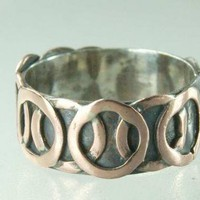 Circle Band Ring Sterling Silver and Copper for male by ExCognito