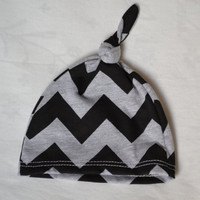 Chevron baby hat. Soft stretchy knit material. Size, newborn. Perfect for in the hospital.  Made by lippybrand.