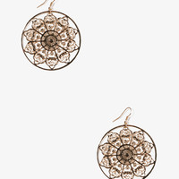 Filigree Medallion Earrings