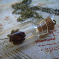 TREASURE Vial Necklace Captured Wish Purple Plum by DelightAndRage