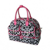 Wake Up Frankie - Damask Print Overnight Bag
