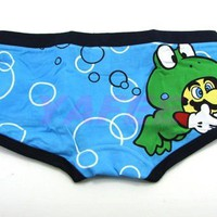 Blue Cartoon Mario Women's Brief Girls Underwear Woman's Boxer Shorts products, buy Blue Cartoon Mario Women's Brief Girls Underwear Woman's Boxer Shorts products from alibaba.com