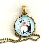 10% SALE Necklace Japanese Cartoon Collection Totoro Spirited Away Miyazaki Art Pendant Gift