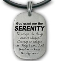 Amazon.com: Serenity Prayer Necklace Pendant - Dog Tag style - with PVC rope chain. God Grant Me the Serenity... High Quality Pewter Sobriety gifts - Serenity Prayer Jewelry - Serenity Prayer Gifts for men or Women.: Pet Supplies