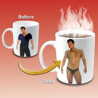 Amazon.com: Disappearing Shirt Mug: Kitchen &amp; Dining
