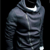 New Mens Slim Sexy Top Designed Hoody Jacket M L XL XXL 5color | eBay