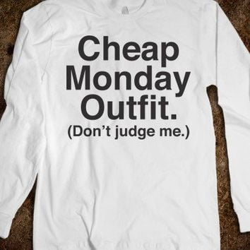 Cheap Monday Outfit (Don't Judge Me) - Helvetica Tees
