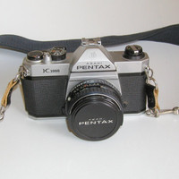 Pentax K1000 Camera Lens and Shoulder Strap by MarysVintageLoved