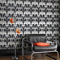 Hula Charcoal and Gold Wallpaper by Barbara Hulanicki - Graham and Brown Wallpaper
